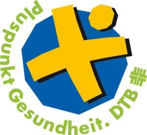 """Siegel / Auszeichnung des Deutschen Turnerbundes DTB, """"Pluspunkt Gesundheit"""""""