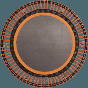 bellicon® Trampolin in der Farbe orange. Ansicht von oben.